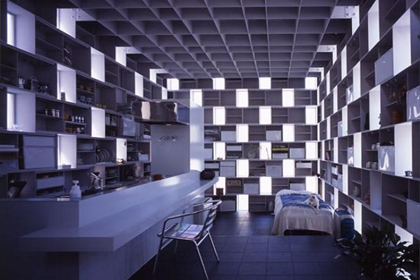 Extraordinary Japanese Micro Home Built From A Grid Of Boxes