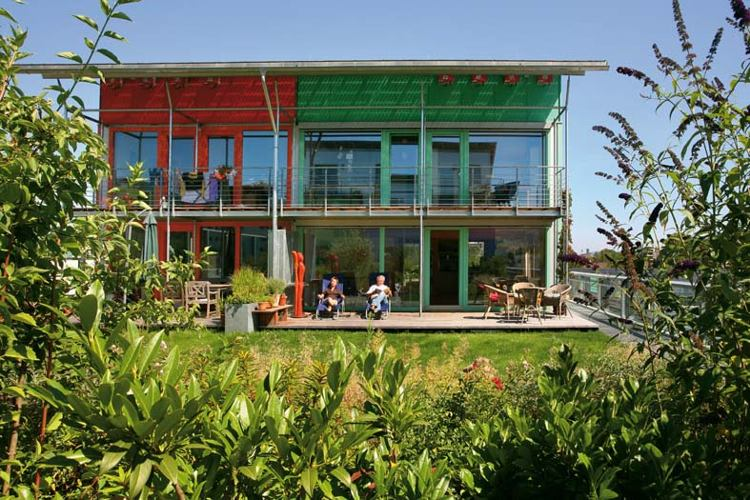 Rolf Disch, Solar design,passivhaus, green nieghborhood, german  green home, green housing, green development, green mixed use, solar  development, solar neighborhood, wood chip boiler, rainwater catchement,  rainwater recycling