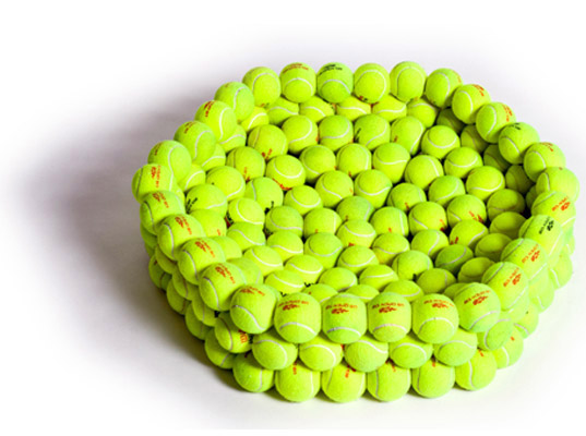 Marvelous Hugh Hayden Design Recycled Tennis Ball Dog Bed Inhabitat Gmtry Best Dining Table And Chair Ideas Images Gmtryco
