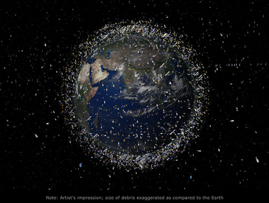 space junk, global aerospace corporation, gold, kristen gates, robotics, satellites, waste, aerospace, space, sustainable design