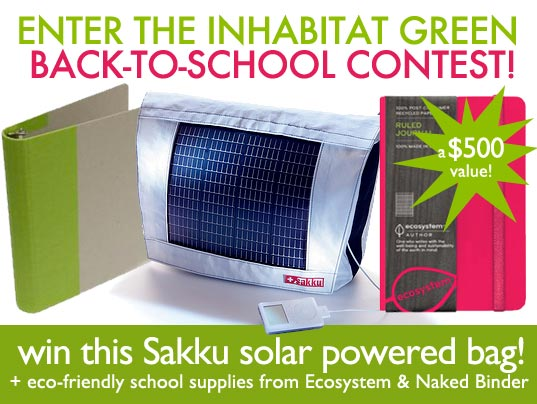 back to school, sakku, photovoltaic bag, solar powered bag, solar bag, sakku solar bag, contest, eco bag, eco binder, eco notebook, eco school supplies, ecosystem, giveaway, green back to school, green bag, green binder, green notebook, green school supplies, naked binder, sakku