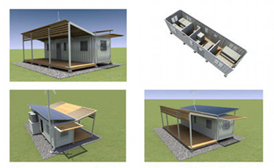 Floating Shipping Container House Proposed For Flood Proof