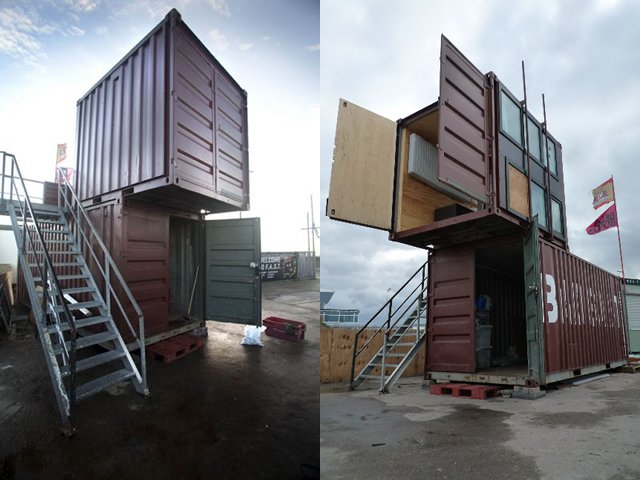 badgast, refunc, the netherlands, art studio, shipping containers, green building, sustainable architecture