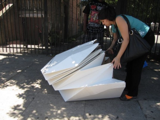 Portable Individual Shelters : Architecture student designs housing shelter with help of