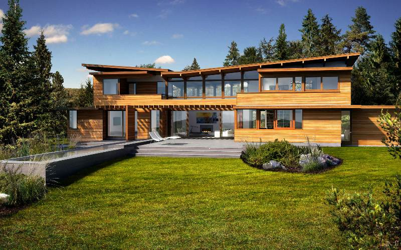 dwell homes collection turkel design lindal cedar homes modern eco home green - Green Home Designs