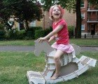 The Eco Rocker is a Modern Recycled Paper Rocking Horse