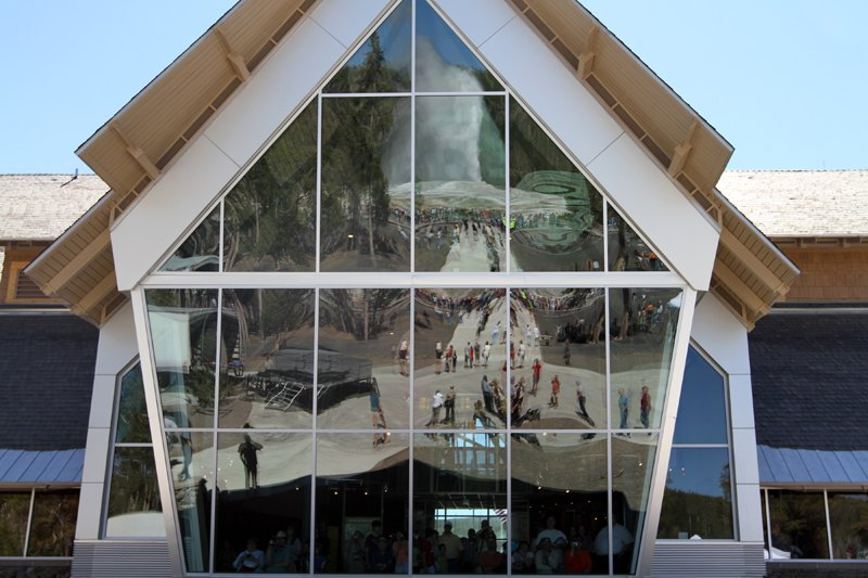 old faithful education center, yellowstone national park, leed gold, green building, sustainable architecture
