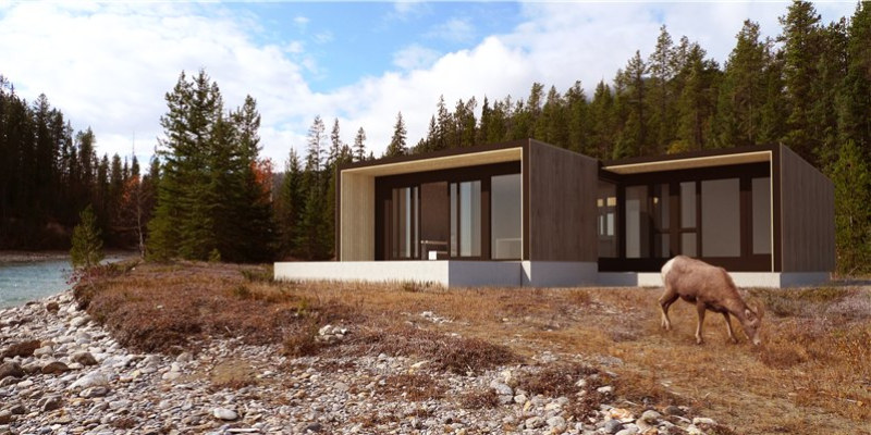 form and forest, prefab house, prefab cabin, flat pack design, green design, sustaianble architecture