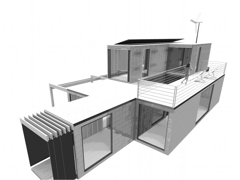Italian Green Frame Home Explores Sustainable Container Housing ...