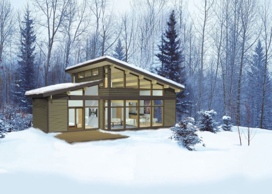 Lindal homes puts a green twist on the classic a frame for Lindal log cabin homes
