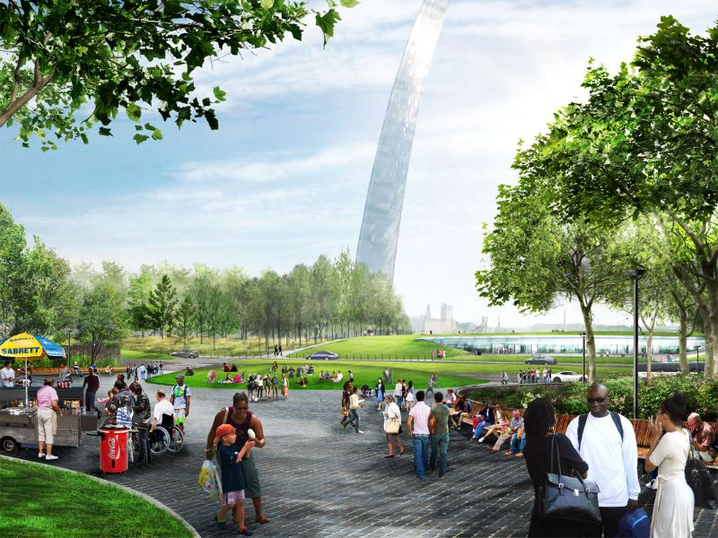 mvva, st. louis arch, design competition, urban park, landscape architecture, green design, sustainable design