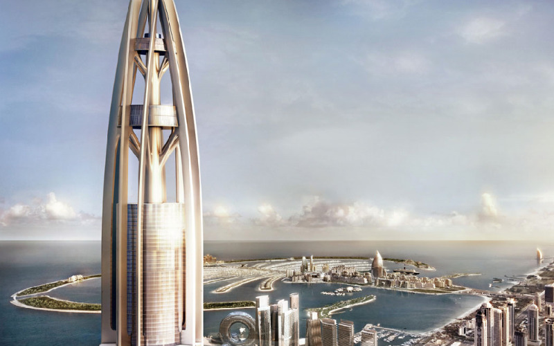 nakheel tower, woods bagot, dubai, leed certified development, green building, sustainable architecture
