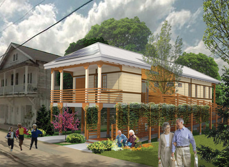 natural talent design competition, new orleans, leed platinum, affordable housing, usgbc, salvation army envirenew