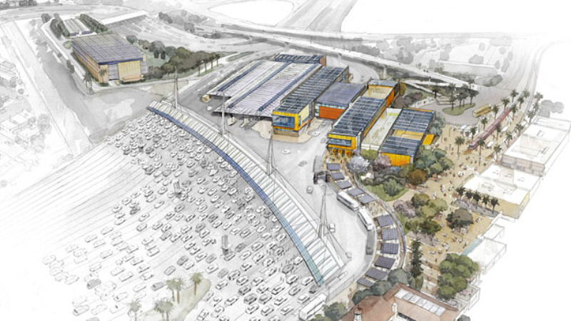 san ysidro border crossing, net zero, miller hull partnership, solar energy, sustainable architecture, green building