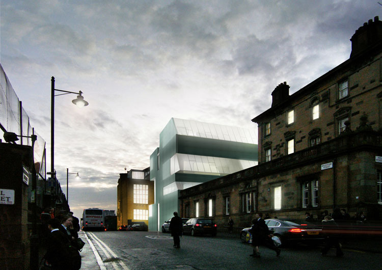 steven holl, glasgow school of art, daylighting, recycled glass, green building, sustainable architecture