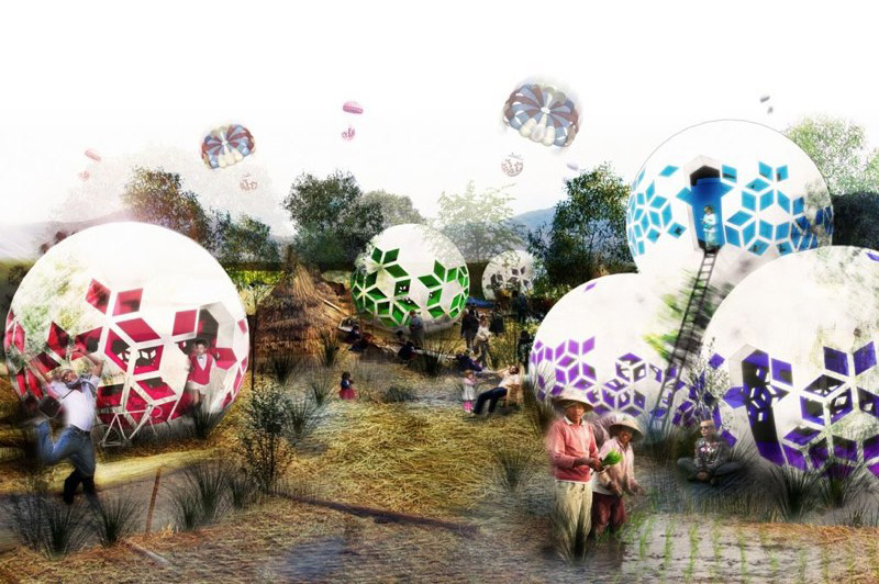 andrew maynard architects, air drop house, emergency housing, disaster relief, green design, sustainable architecture