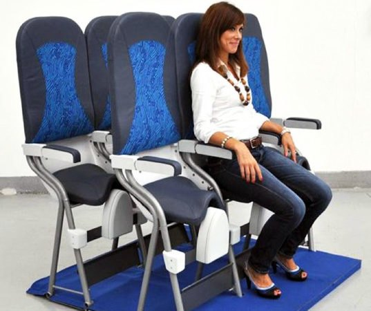 Magnificent New Ultra Compact Airplane Seats Pack In The Passengers Squirreltailoven Fun Painted Chair Ideas Images Squirreltailovenorg