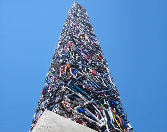 obelisk, santa rosa, bikes, bicycles, sustainable design, green design, eco art