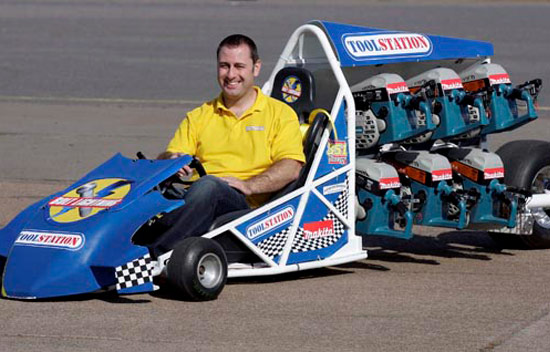 barry lee, dyi, go karts, circular saws, mini cars, races, derby, repurposing, sustainable design, upcycling, toolstation, uk