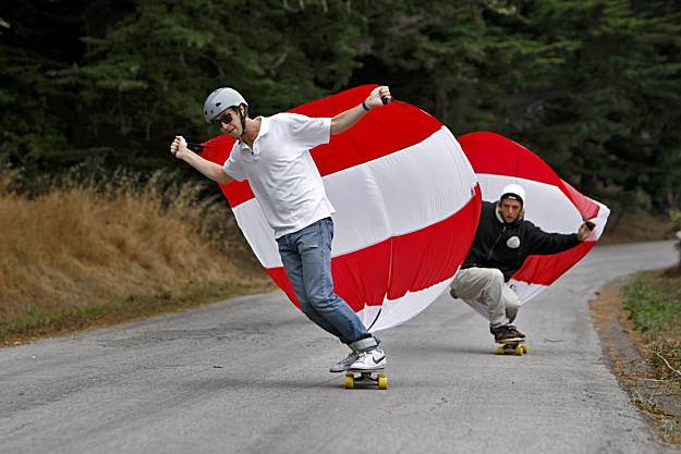 sporting sail, skateboarding