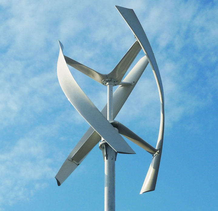 new wind turbine is silent sleek and designed to catch city winds
