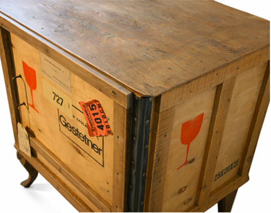 sustainable design, green design, green furnishing, green interiors, Export, shipping crate, furniture, design, reused, recycle