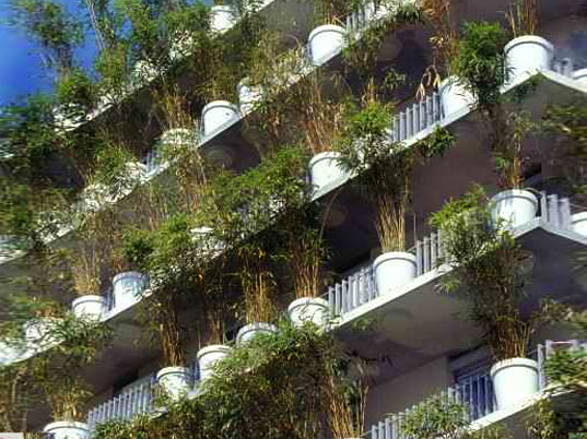 flower tower, Edouard François, green wall, vertical garden, green roof, green building, eco architecture, sustainable architecture, green architecture, green design, urban garden, urban green space, paris, france