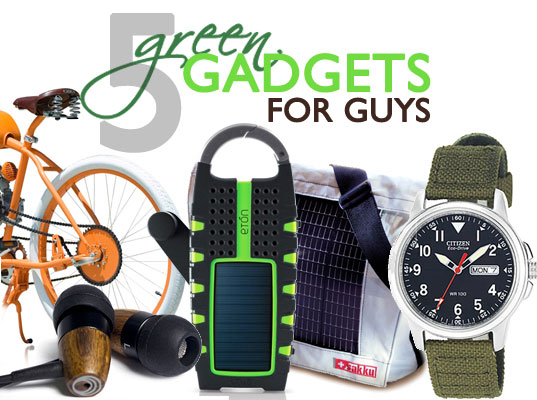 sustainable design, green design, greener gadgets, top 6 green gadgets for guys, eco electronics, solar powered, alternative transportation, green technology, clean tech