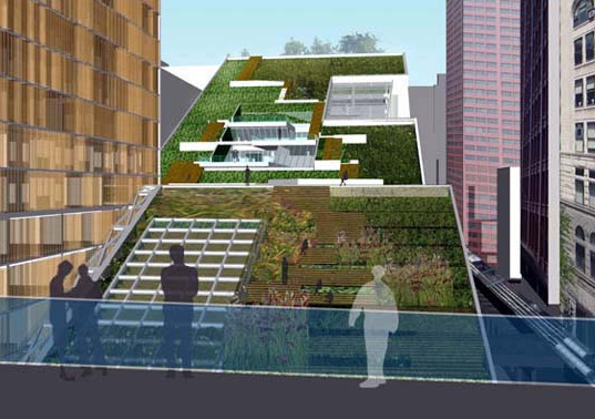 Green Roof City Is A Giant Vegetated Ramp For Chicago