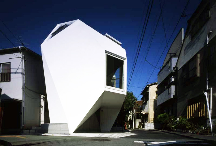 Amazing Mineral House is a Mult Faceted Micro Home in Japan