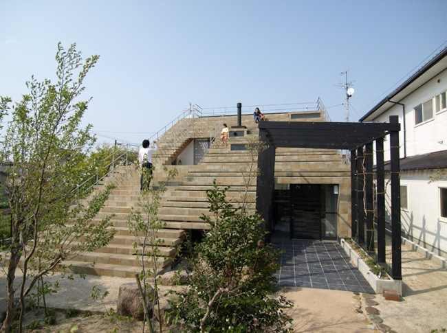 Japanese Eco House Is A Huge Staircase Inhabitat Green