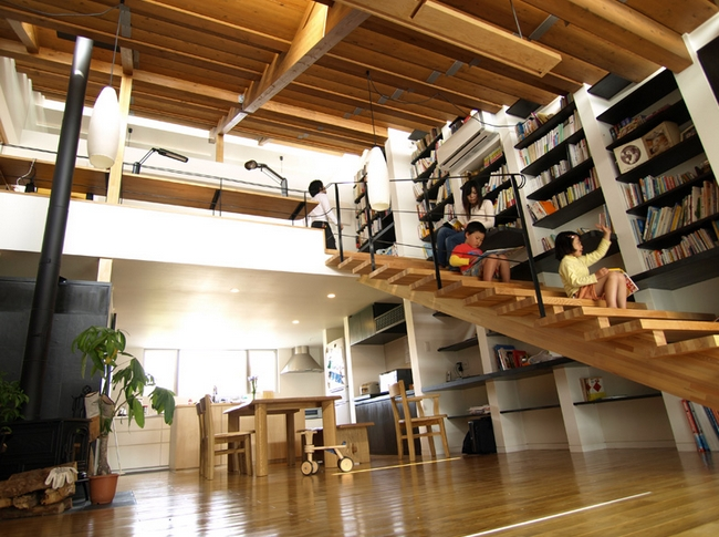 japanese eco house is a huge staircase inhabitat green design