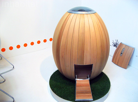 nogg, egg shaped, chicken coop, chicken house, hen house, eggs, local farming, urban farming, london design festival, prefab