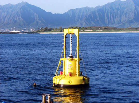 sustainable design, renewable energy, opt, wave power, wave  energy, powerbuoy, oaho, marine corps, hawaii