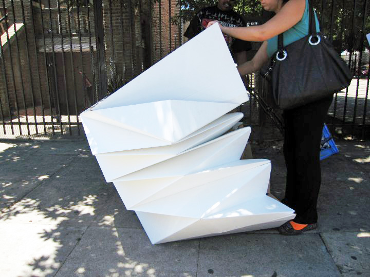 cardborigami, emergency shelter, homeless shelter, humanitarian design, recycled cardboard, eco design