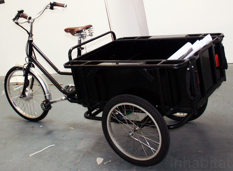 sustainable design, green design, art, danish bikes, sanitov, london design festival, 2010, green transportation, cargo bike, gps bicycle
