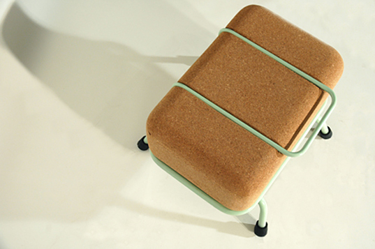 cork furniture. quirky and comfy stackable stools made from cork furniture