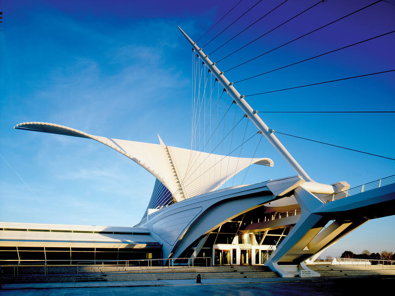 milwaukee art museum, santiago calatrava, sun screen, Burke Brise Soleil, green building, sustainable architecture