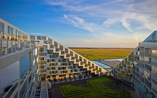 BIG, Bjarke Ingles Group, 8 House, Green apartment, green roof