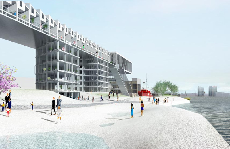 albino alligator, maxwan, mixed-use development, daylighting, amsterdam, green design, sustainable architecture
