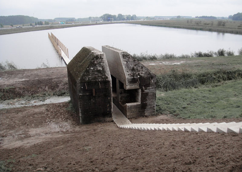 The Dutch Service for Land and Water Management, Rietveld Landscape, Atelier de Lyon, bunker 599, monuments, monument architecture, adaptive reuse, restoration, army bunkers, military bunkers, military architecture, war architecture, flood architecture, new dutch waterline, ndw