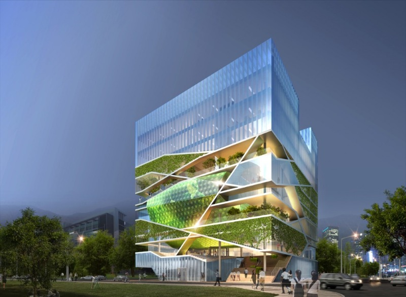 Urban Forest Cultural Center Unveiled For Korea