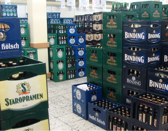 There were plenty of varieties of beer available at the local beer supplier, which was attached to the grocery store in Weisbaden.