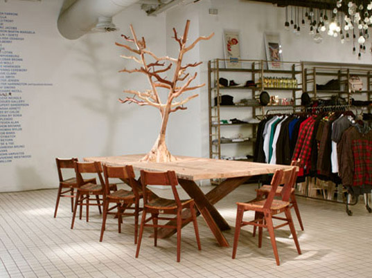 The Hinckley Table on show at the Shop at Bluebird