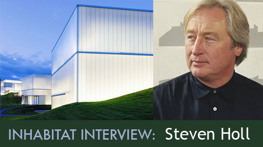 architecture interviews, Beijing, Brooklyn, Helsinki, horizontal skscraper, inhabitat interview with steven holl, kansas city, Kiasma Contemporary Art Museum, Knut Hamsun Centre (Hamsunsenteret), linked hybrid, Museum of Art and Architecture, Nanjing, nelson-atkins museum of art, new york city, Nordland, norway, NY, Pratt Institute Higgins Hall Center Section, Steven Holl, Steven Holl Architects, steven holl interview, steven holl watercolors, storefront for art and architecture