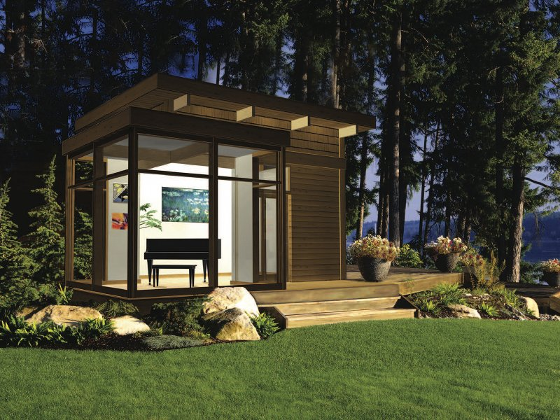 EcoFriendly Modern Studio Kit By Lindal Cedar Homes Inhabitat - Backyard cabin kits