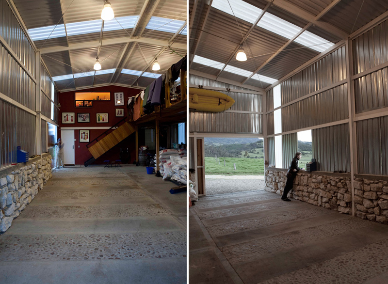 Barn house, hybrid barn, hybrid house, renovated barns, country house, farmhouse, live/work space, Colombia, countryside, Antonio Yemail, Michel Pineda, Oficina Informal, recycled oak wine barrels, reclaimed doors and furniture, stone