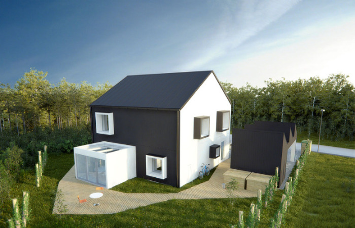 one tonne life, sweden, a-hus, volvo, vattenfall, energy efficient house, green design, low carbon living, sustainable architecture