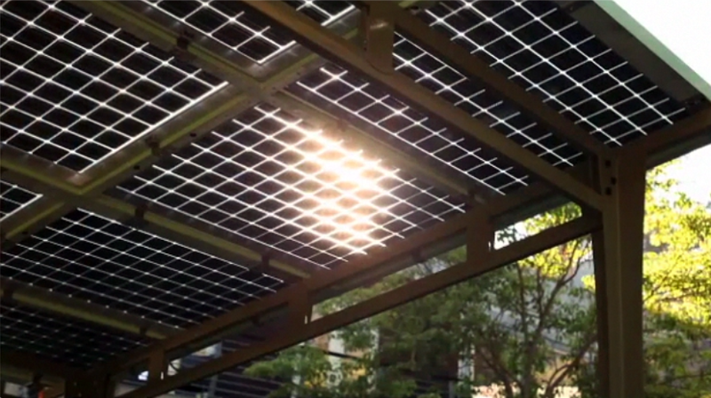 Prefab Solar Awning Provides Outdoor Shade And Solar Power