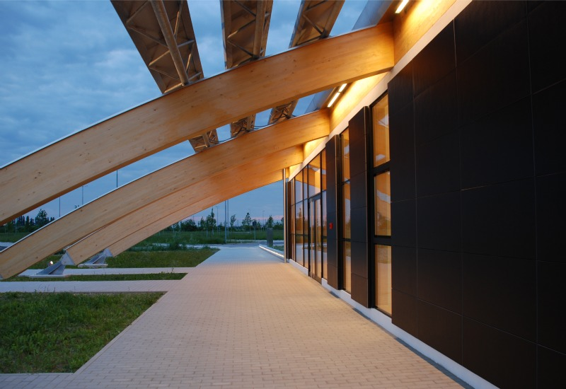 polins, marco acerbis, italy, auditorium, daylighting, solar power, casaclimate, green design, sustainable architecture